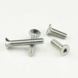 M12 不锈钢201沉头内六角机螺钉 平头内六角螺丝 DIN7991厂家直销