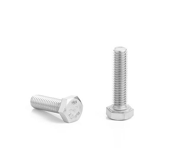 304不锈钢外六角螺丝M4 M5 M6 M8 DIN933厂家批发全牙六角螺栓