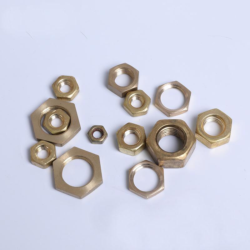 黄铜六角螺母 黄铜螺帽 黄铜螺母微型螺母 眼镜螺母