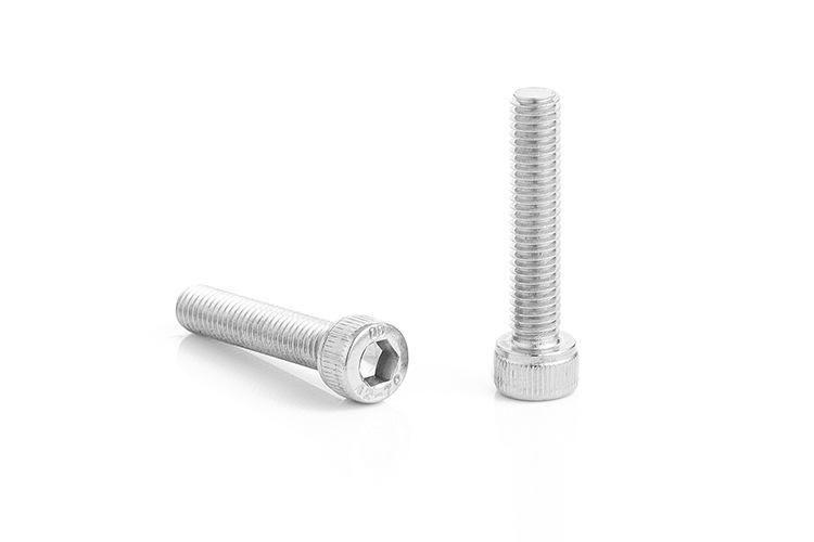 304不锈钢螺丝 圆柱头内六角螺栓 M4*5~80 杯头滚花内六角螺丝钉