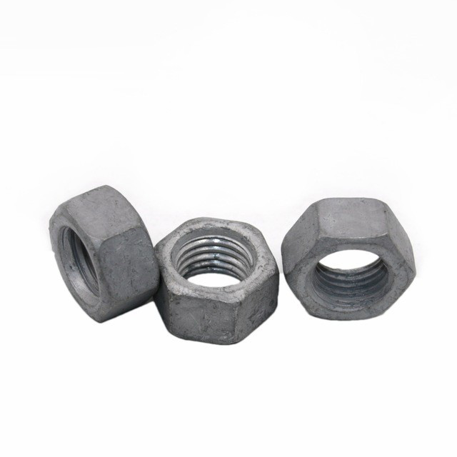 防盗螺母 热镀锌 螺母 碳钢热镀锌六角螺母质量保证