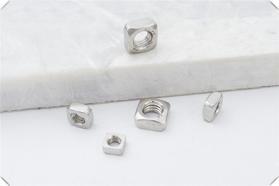 304不锈钢四角方形四方螺母M3M4M6M8铁镀锌方型螺母螺帽