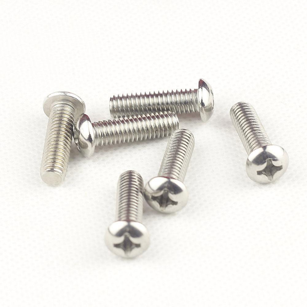 M3不锈钢201十字槽半圆头机螺钉 半圆机钉 圆头螺丝